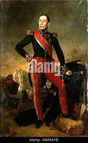 Français: Emmanuel, marquis de Grouchy, maréchal de France (1766-1847) . 1835. Emmanuel de Grouchy - Stock Photo