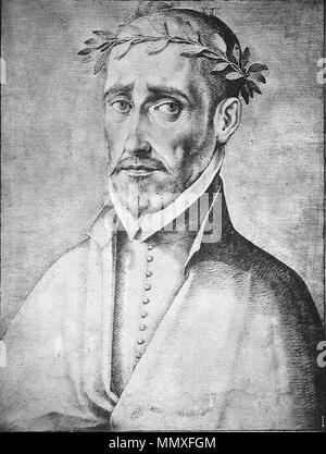 . Español: Fernando de Herrera en Francisco Pacheco, (1564-1644) El libro de descripción de verdaderos retratos, ilustres y memorables varones, [Sevilla, s.n., s.a.]- Real Academia de la Historia (Madrid). Signatura: 1/736  . circa 1599.   Francisco Pacheco (1564–1644)   Alternative names ????????? ??????; ????????? ??????; ??????, ?????????; Pacheco del Río; Francisco Pacheco del Rio; Francisco Pacheco; Pacheco del Rio; ????????? ???????; Pacheco; ??????????????????; Francisco Pérez del Río; Francisco Pérez Del Río  Description Spanish painter and writer Spanish artist  Date of birth/deat - Stock Photo
