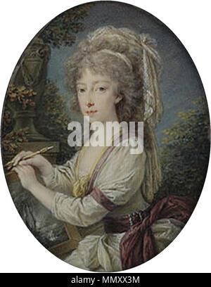 Füger - Maria Clementina of Austria (So-called portrait of Maria Carolina of Austria) - Stock Photo