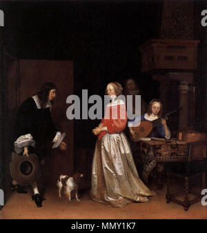 The Suitor's Visit. circa 1658. Gerard ter Borch (II) - The Suitor's Visit - WGA22125 - Stock Photo