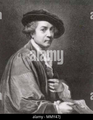 Self-portrait Sir Joshua Reynolds. 1784 (engraving); 1775 (original painting). John Keyse Sherwin - Stock Photo