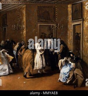 . detail  The Foyer. 1755. Francesco Guardi - Il Ridotto (detail) - WGA10831 - Stock Photo