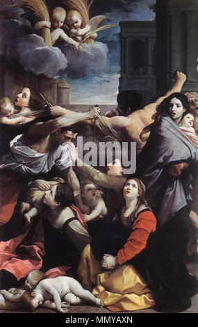 The Massacre of the Innocents. 1611. Guido Reni - Massacre of the Innocents - WGA19286 - Stock Photo