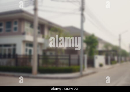 blur image of house for background usage - Stock Photo