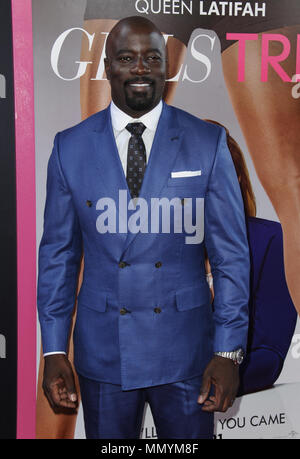 LOS ANGELES, CA - JULY 13: Mike Colter  attends the premiere of 'Girls Trip' at Regal LA Live Stadium 14 on July 13, 2017 in Los Angeles, California.  People:  Mike Colter - Stock Photo