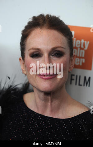 NEW YORK, NY - OCTOBER 07: Julianne Moore  attends the 55th New York Film Festival 'Wonderstruck' premiere at Alice Tully Hall on October 7, 2017 in New York City.   People:  Julianne Moore - Stock Photo