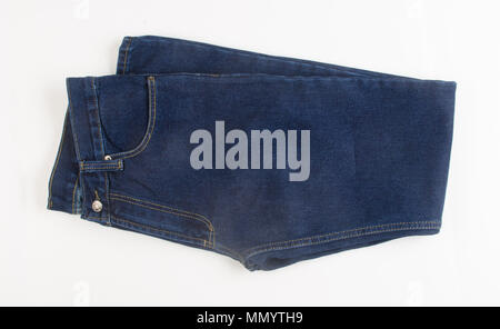 jeans or blue jeans on a background - Stock Photo