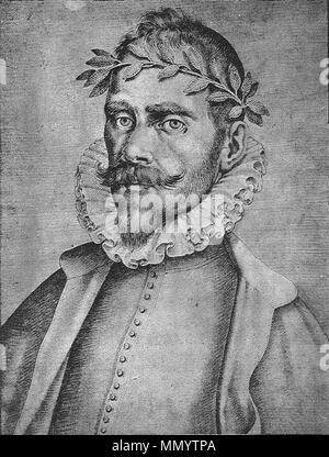 . Español: Gutierre de Cetina en Francisco Pacheco, (1564-1644) El libro de descripción de verdaderos retratos, ilustres y memorables varones, [Sevilla, s.n., s.a.]- Real Academia de la Historia (Madrid). Signatura: 1/736  . circa 1599.   Francisco Pacheco (1564–1644)   Alternative names ????????? ??????; ????????? ??????; ??????, ?????????; Pacheco del Río; Francisco Pacheco del Rio; Francisco Pacheco; Pacheco del Rio; ????????? ???????; Pacheco; ??????????????????; Francisco Pérez del Río; Francisco Pérez Del Río  Description Spanish painter and writer Spanish artist  Date of birth/death - Stock Photo