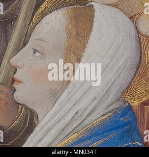 Heures Louis XII Présentation au Temple (détail) - Visage de Marie - Stock Photo