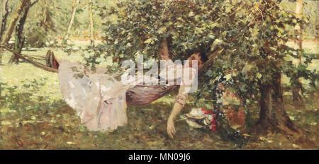 . Junge Frau im Schatten  . by 1906. Achille Formis Befani Junge Frau im Schatten - Stock Photo