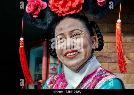 Woman wearing traditional Chinese costume, China Town, Thailand, - Stock Photo