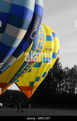 Lindstrand balloon preparing to take off. Telford Balloon and Kite Festival, Telford Town Centre, Telford, Shropshire.  United Kingdom.  12th May 2018