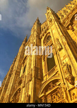 Duomo di Milano, Milan Cathedral is the cathedral church of Milan in Lombardy, northern Italy. Dedicated to St Mary of the Nativity, it is the seat of - Stock Photo