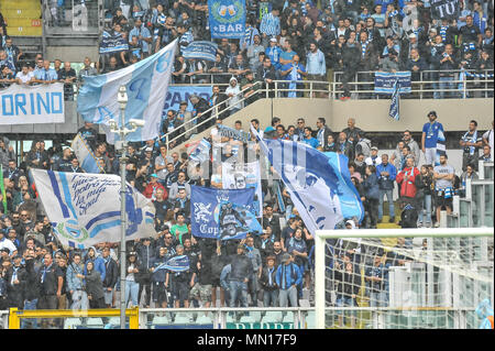 Torino, Italy. 13th May, 2018. supporters SPAL during the Serie A football match between Torino FC and SPAL at Stadio Grande Torino on 13th May, 2018 in Turin, Italy. Credit: FABIO PETROSINO/Alamy Live News - Stock Photo