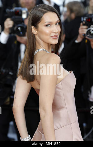 Bella Hadid attending the 'Ash Is Purest White / Jiang hu er nv' premiere during the 71st Cannes Film Festival at the Palais des Festivals on May 11, 2018 in Cannes, France | usage worldwide - Stock Photo