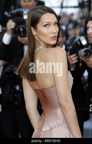 Cannes, France. 11th May, 2018. Bella Hadid attending the 'Ash Is Purest White/Jiang hu er nv' premiere during the 71st Cannes Film Festival at the Palais des Festivals on May 11, 2018 in Cannes, France | usage worldwide Credit: dpa/Alamy Live News - Stock Photo