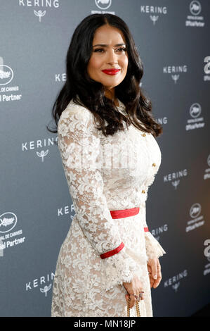 Cannes, France. 13th May, 2018. Canees, France. 13th May, 2018. Salma Hayek attends Kering Women in Motion photocall during the 71st annual Cannes Film Festival at Majestic Hotel on on May 13, 2018 in Cannes Credit: Geisler-Fotopress/Alamy Live News Credit: Geisler-Fotopress/Alamy Live News - Stock Photo