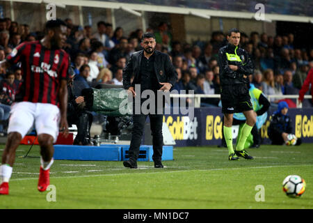 Turin, Italy. 13th May, 2018. football, Serie A championship 2017-2018 13-5-2018 Atalanta vs. Milan 1-1 in the picture: Gattuso Credit: Independent Photo Agency/Alamy Live News - Stock Photo
