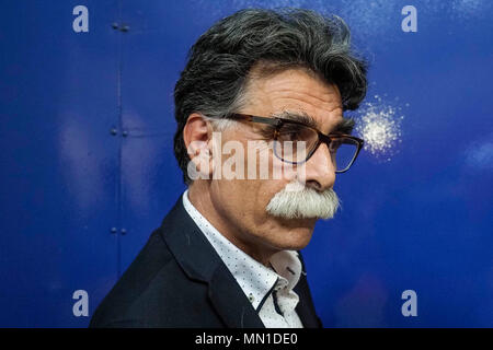 Turin, Italy. 13th May, 2018. Turin. Kader Abdolah at the Book Fair. in the picture: Kader Abdolah Credit: Independent Photo Agency/Alamy Live News - Stock Photo