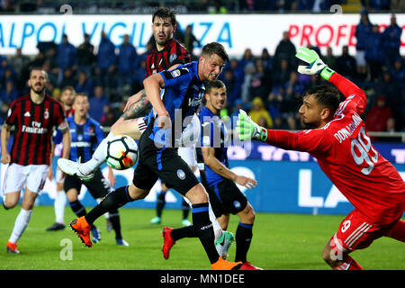 Turin, Italy. 13th May, 2018. football, Serie A championship 2017-2018 13-5-2018 Atalanta vs. Milan 1-1 in the picture: Credit: Independent Photo Agency/Alamy Live News - Stock Photo