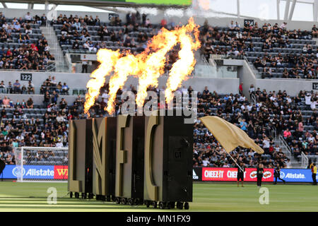 Los Angeles, CA, USA. 13th May, 2018. Pregame of the Los Angeles Football Club vs New York City Football Club at BANC OF CALIFORNIA Stadium in Los Angeles, Ca on May 13, 2018. Jevone Moore Credit: csm/Alamy Live News - Stock Photo