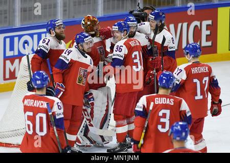 Kodan, Denmark. 13th May, 2018. in action during the Ice Hockey World Championships match France vs Czech Republic, in Copenhagen, Denmark, May 13, 2018. Credit: Ondrej Deml/CTK Photo/Alamy Live News - Stock Photo