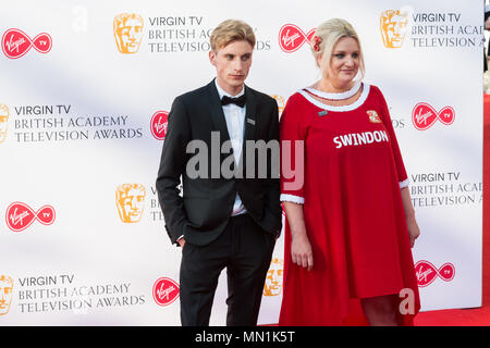 London, UK. 13th May 2018. Charlie Cooper and Daisy May Cooper attend the Virgin TV British Academy Television Awards ceremony at the Royal Festival Hall. Credit: Wiktor Szymanowicz/Alamy Live News. - Stock Photo