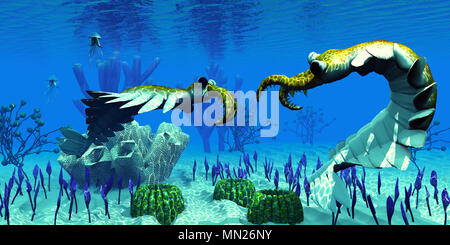 Anomalocaris An Invertebrate Predator Of Cambrian Seas Sneaks Up On Stock Photo 76331427 Alamy