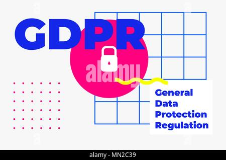 General Data Protection Regulation Abstract Geometric Design - Stock Photo