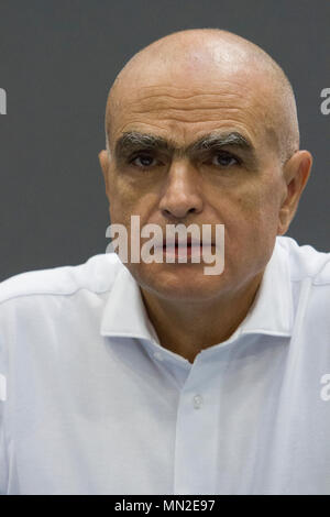 Turin, Italy. 13th May, 2018. Torino, Italy. 13th May 2018. French writer Luc Lang at Torino Book Fair. Credit: Marco Destefanis/Pacific Press/Alamy Live News - Stock Photo
