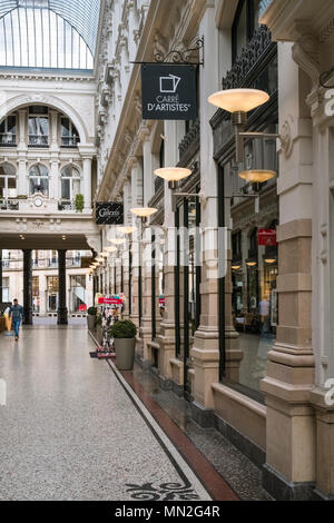 Section of The Passage shopping mall, containing an upmarket selection of stores in The Hague (Den Haag), Netherlands. - Stock Photo