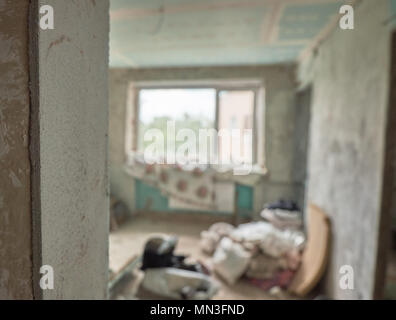 Major overhaul concept. House repairs. Home interior remodeling - Stock Photo