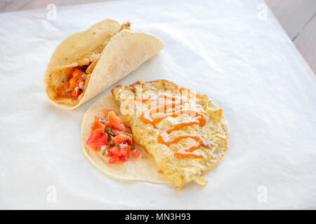 Breakfast omelette taco - Stock Photo