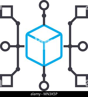 Infrastructure vector thin line stroke icon. Infrastructure outline illustration, linear sign, symbol concept. - Stock Photo