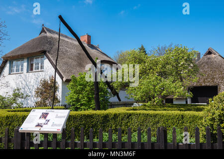A small local museum with agricultural items, Göhren, Insel Rügen, Mecklenburg-West Pomerania, Germany - Stock Photo