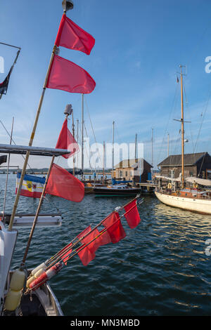 Habour scene of Gager, island of Rügen, Baltic Sea, Mecklenburg-West Pomerania, Germany - Stock Photo