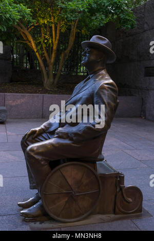 Franklin D Roosevelt statue at the FDR Memorial , Washington DC, USA, North America - Stock Photo