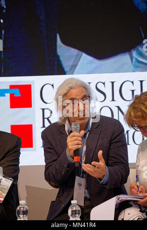 Turin, Italy. 13 May, 2018. Turin Book Fair: Boualem Sansal at the presentation of his book:'Nel nome di Allah'. MLBARIONA/Alamy Live News. - Stock Photo