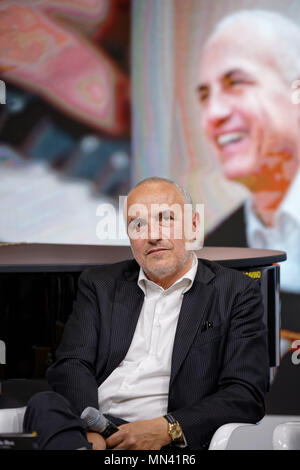 Turin, Italy. 13 May, 2018. Turin Book Fair: musician Danilo Rea speaking on his new book:'Il jazzista imperfetto'. MLBARIONA/Alamy Live News. - Stock Photo