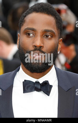 Cannes, France. 14th May, 2018. John David Washington at the 'Blackkklansman' premiere during the 71st Cannes Film Festival at the Palais des Festivals on May14, 2018 in Cannes, France. Credit: John Rasimus/Media Punch ***FRANCE, SWEDEN, NORWAY, DENARK, FINLAND, USA, CZECH REPUBLIC, SOUTH AMERICA ONLY*** - Stock Photo