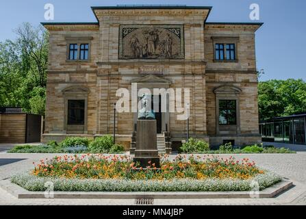 Bayreuth is a city that has historically grown as a Margravial Residence and is in the meantime world famous because of the Richard Wagner Festival. - Stock Photo