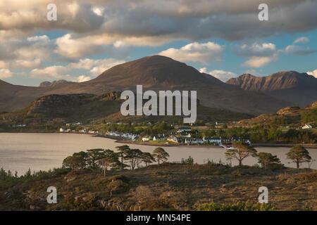 Shieldaig, Loch Torridon, Wester Ross, Scotland, - Stock Photo