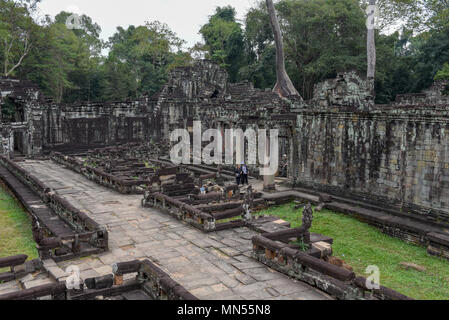 Siem Reap, Cambodia - 11 January 2018: ancient Preah Khan temple in Angkor. Siem Reap, Cambodia - Stock Photo