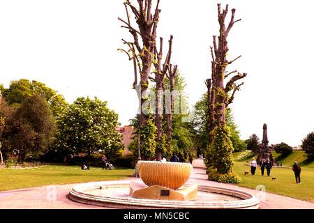 dane john gardens in city of canterbury east kent uk may 2018 - Stock Photo