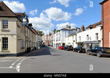 Old historic houses in the town centre of Arundel West Sussex England UK - Stock Photo