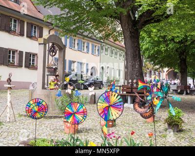 Village Burkheim near Freiburg, Breisgau, Baden-Würtemberg, Germany - Stock Photo