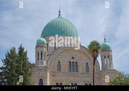 The Great Synagogue of Florence or Tempio Maggiore is one of the largest synagogues in South-central Europe. The synagogue of Florence was one of the  - Stock Photo