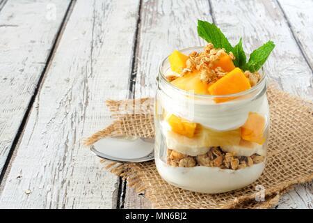 Mango Yogurt Parfait Stock Photo 41819235 Alamy