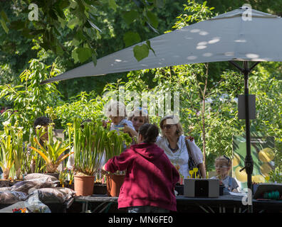 MILAN, ITALY - 12 MAY 2018: Orticola, the large and famous annual flower fair in the center of Milan. - Stock Photo