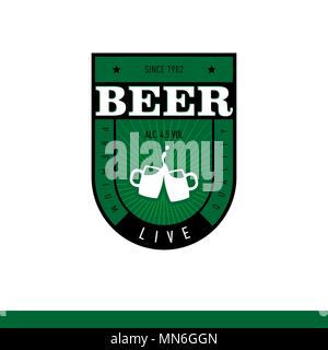 Beer Label Design live - Stock Photo